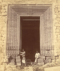 Close view of doorway in the eastern façade of the mandapa of the Surya Temple or Black Pagoda, Konarka